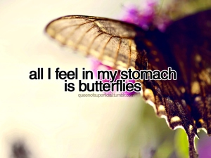 butterfly in stomach